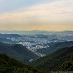 View of Gwangju on the way down the mountain