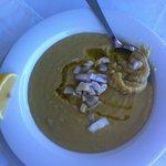 Sopa de judia y cebolla