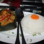 The best Fish Curry we have ever had, served in a banana leaf