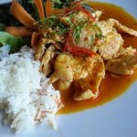 Chicken Penang Curry with steamed rice