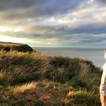 Cliffs at Runswick Bay, a 2 minute walk from the pub.