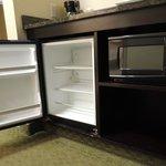 Microwave and Mini Fridge