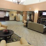 Lobby: Check In and Breakfast Area to the right