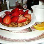 Breakfast with White Gull Inn Granola and fresh fruit