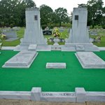 Grave with astro turf