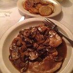 Chicken marsala and potatoes