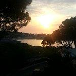 vista del amanecer desde la habitacion