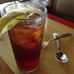 Hey, It is just iced tea but it was very hot that day :)