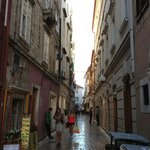Typical Croatian narrow streets.