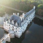 Au-dessus du château de Chenonceaux