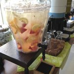 Lobby refreshements - fresh fruit infused water