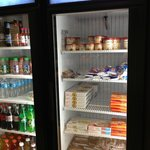 Commissary - Perishable Snacks  Chilled left, Frozen right