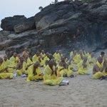 Присутствовали на буддистских  церемониях