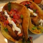 Spicy fish tacos were just right!