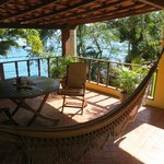Private veranda with hammock