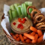 Hummus and Veggie Basket