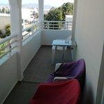 il balcone molto spazioso