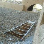 Escaleras viejas en las terrazas