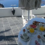 Lovely breakfast served at our veranda every day