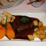 The delicious fillet steak