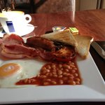 Full English breakfast, cooked to order.