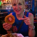 Onion rings as big as your hand!