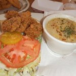 Lunch Special 1/2 Oyster Po-Boy & Shrimp/Corn Bisque
