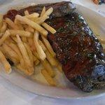 sirloin steak & 1/2 rack ribs with fries