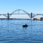 View of Yaquina Bridge, Newport