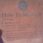 mud bath sign - slather it on