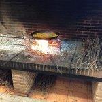 Arroz al fuego