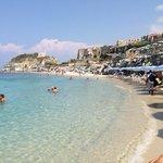 Hotelstrand, Blick Richtung Tropea