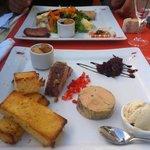 entrée - trio de foie gras