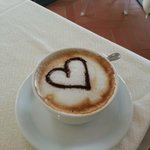 Cappuccino at breakfast