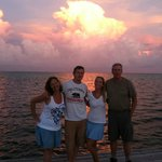 Sunset off Playa Blanca Pier