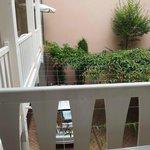 "Balcony overlooking ""courtyard"" (car park)"