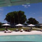 vue du restaurant-terrasse sur la plage