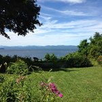 View of Lake Champlain and yard