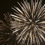 Fireworks over the Niagara Falls, September 1, 2013