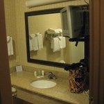 Spacious bathroom with 2nd TV