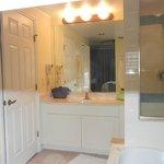master bathroom vanity, only 1 hook on wall