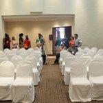 Uno de los dos salones para eventos
