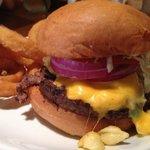 D.C. burger (w/ mac -n- cheese)