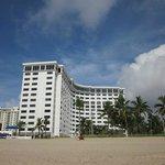 hotel vista da praia