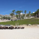 Hilton from the beach