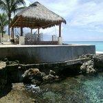Cabana and beach area