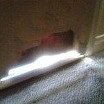 Open hole in room door