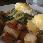 vegetarian eggs Benedict - delist