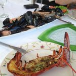 Delicious authentic Croatian seafood lunch