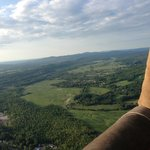 Flying in the hot air balloon